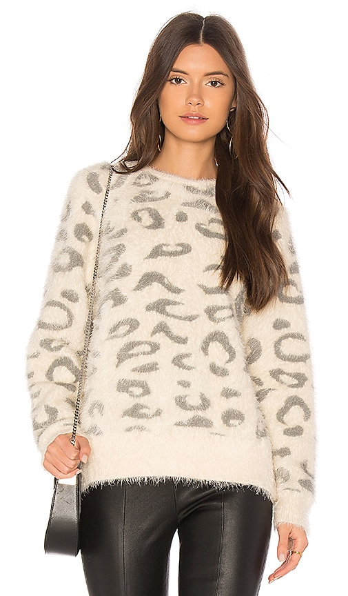Callahan Snow Leopard Sweater in Cream