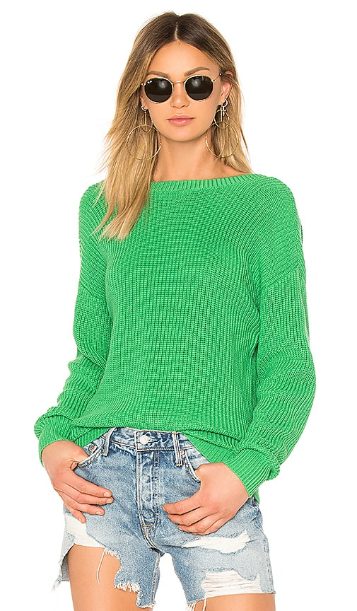 Callahan V Back Sweater in Green