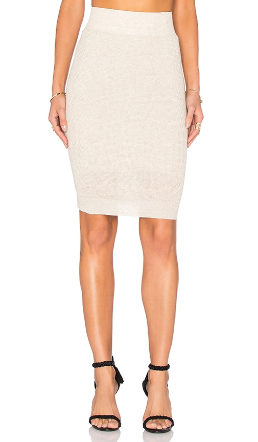 Callahan Pencil Midi Skirt in Beige