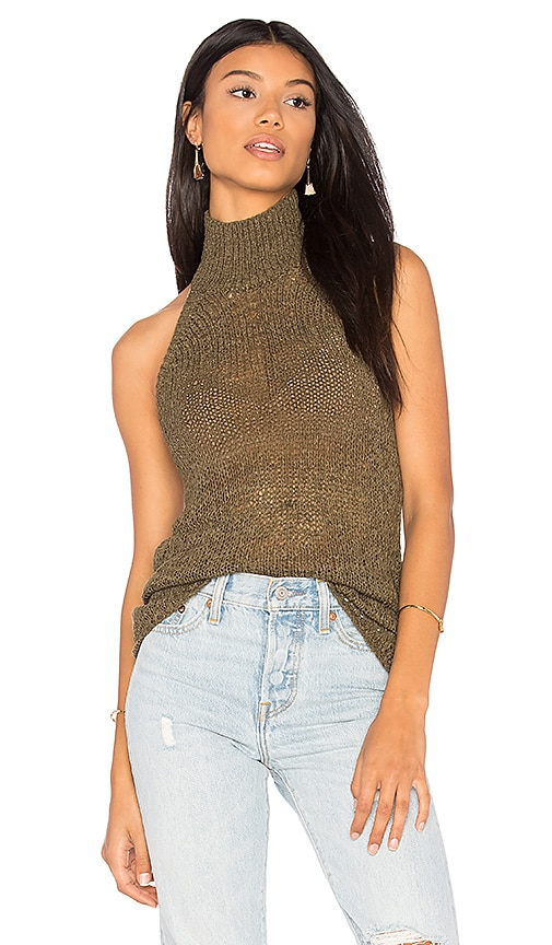 Callahan Turtleneck Tank in Olive