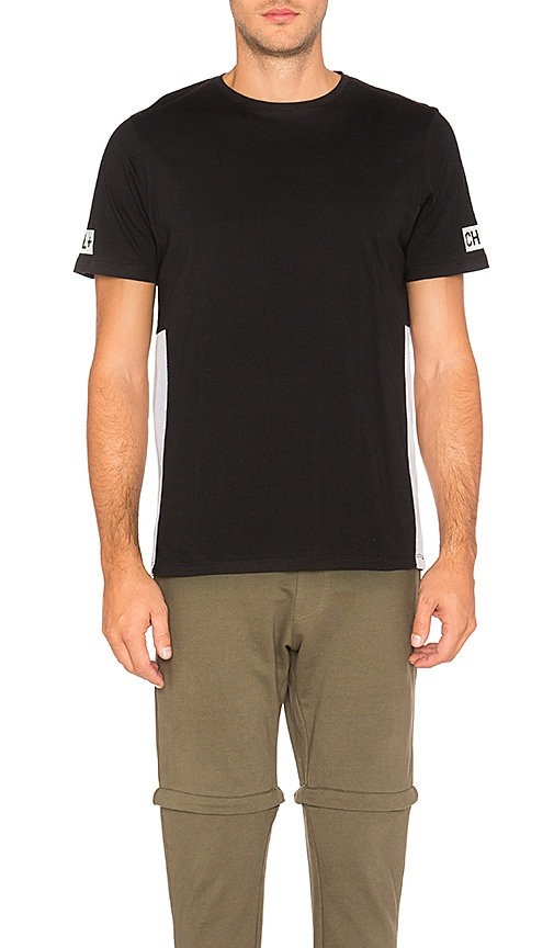Cahill+ Binary Mesh Panel Tee in Black