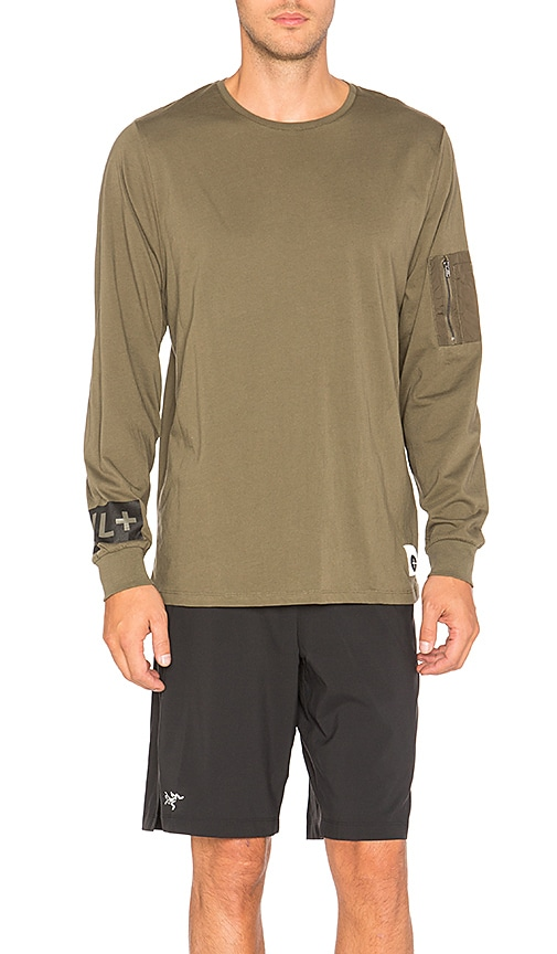 Cahill+ Legacy Long Sleeve Tee in Olive