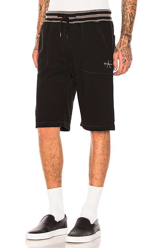 Calvin Klein Reissue Tipping Waistband Shorts in Black