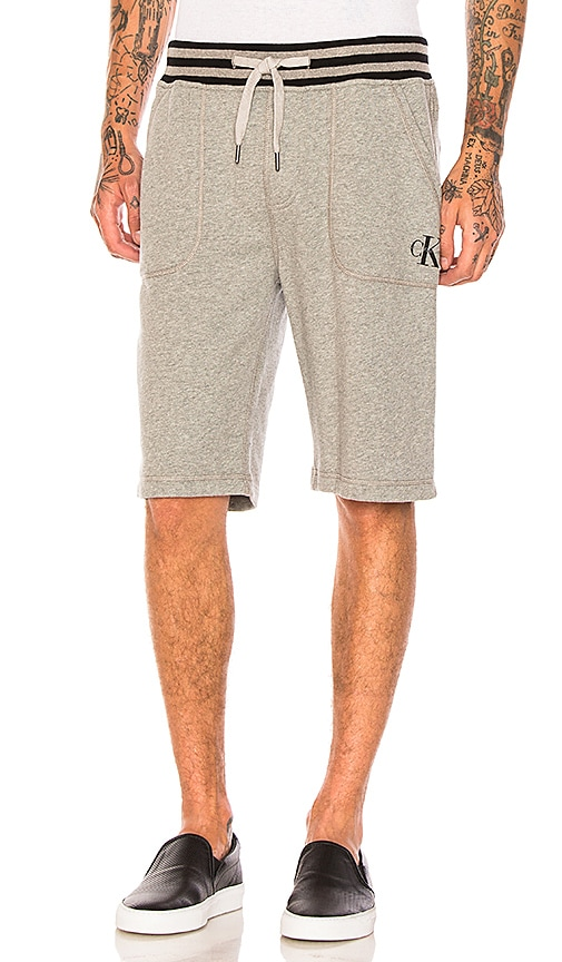 Calvin Klein Reissue Tipping Waistband Shorts in Gray