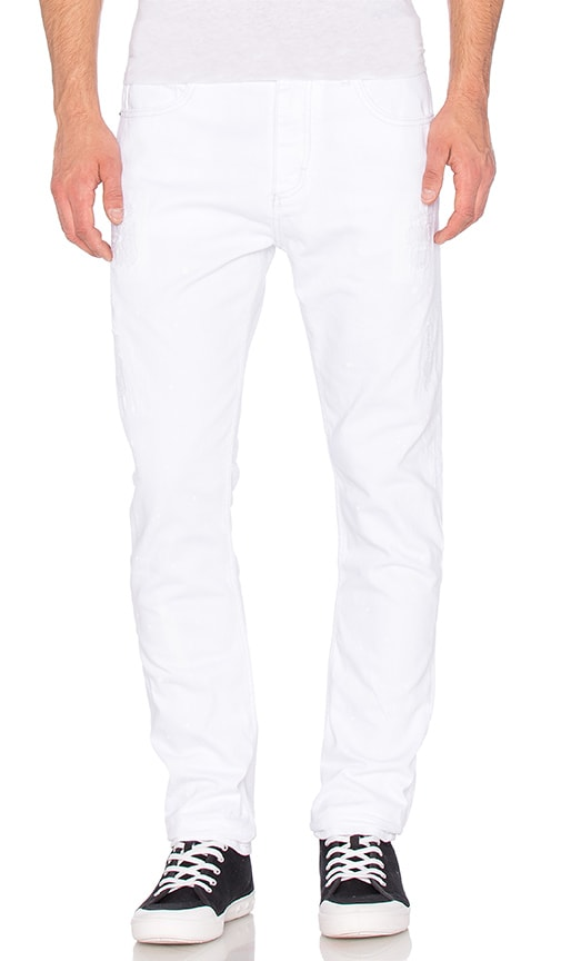 Calvin Klein Taper Jean in Painted White