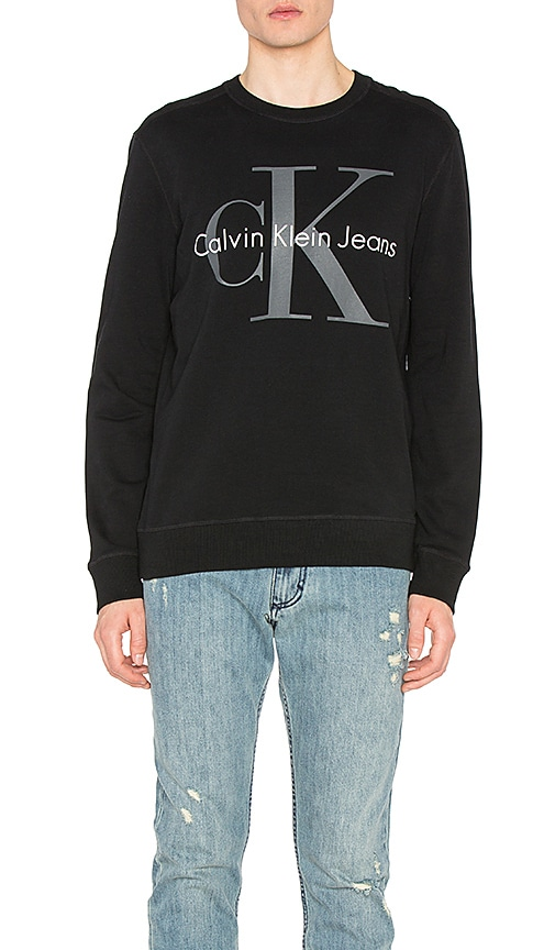 Calvin Klein Reissue Logo Sweatshirt in Black