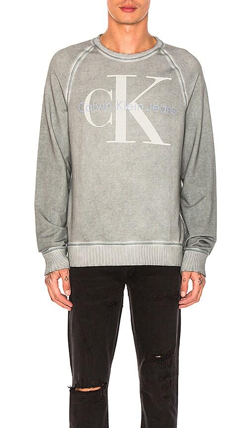 Calvin Klein Cool Wash Reissue Sweatshirt in Slate