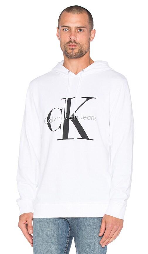 Calvin Klein Longsleeve Logo Hoodie in White