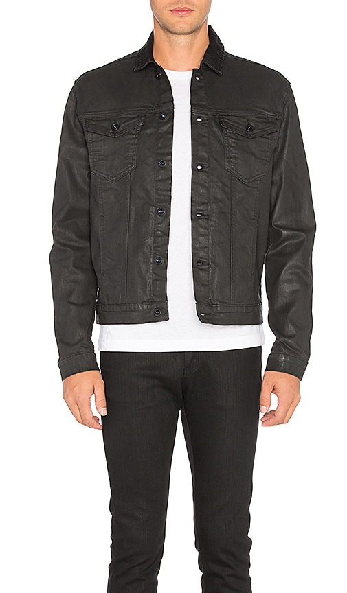 Calvin Klein Denim Coated Jacket in Black