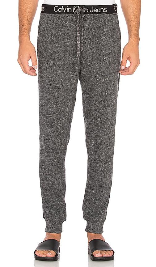Calvin Klein Logo Waistband Sweatpant in Grey
