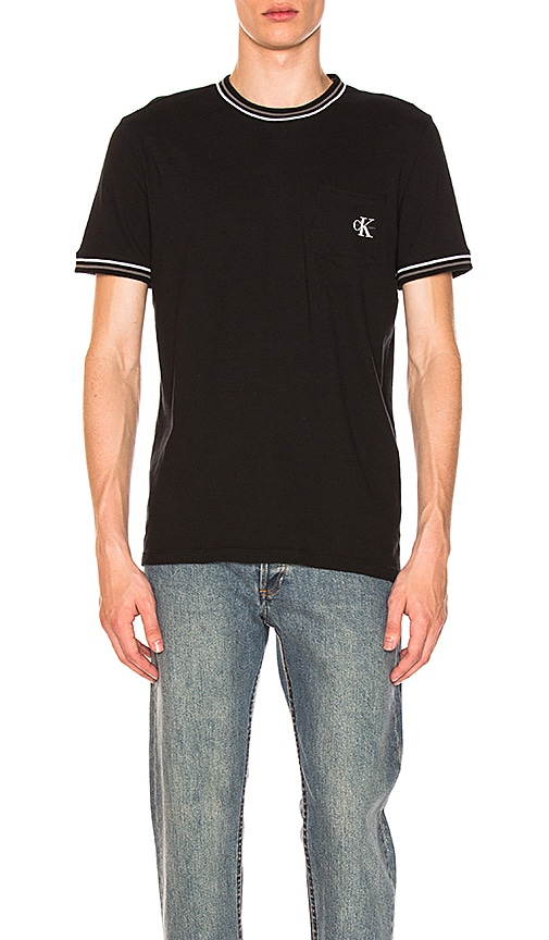 Calvin Klein Iconic Sports Tee in Black