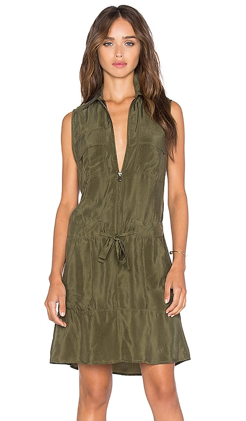 Calvin Rucker Run It Dress in Olive
