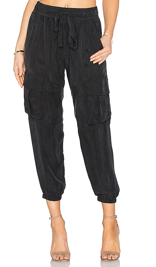 Calvin Rucker Peace Out Cargo Pant in Black