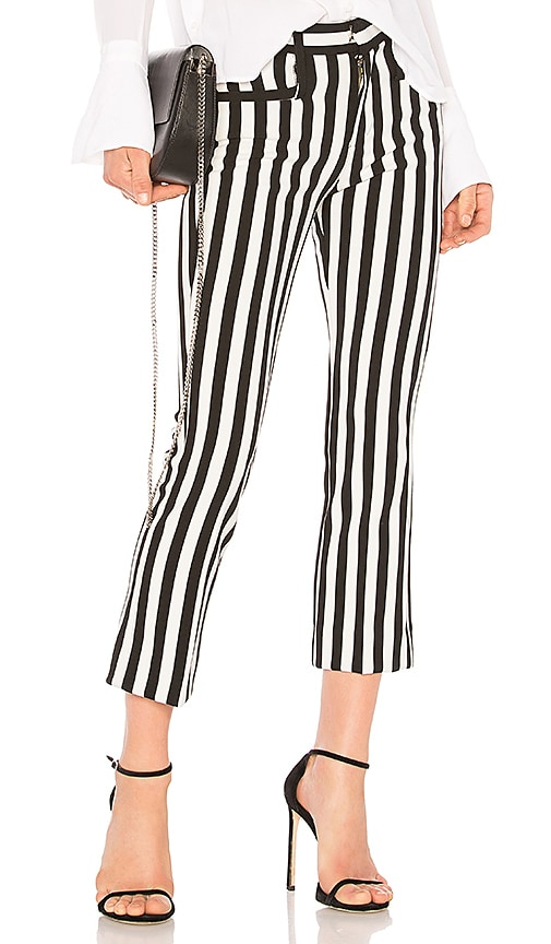 Calvin Rucker Girls Cropped Trouser in Black & White