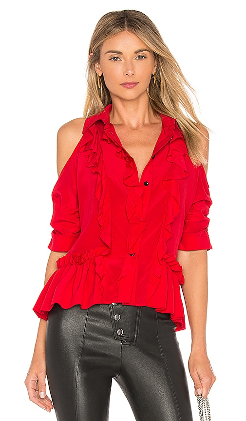 CALVIN RUCKER Be Near Me Top in Red