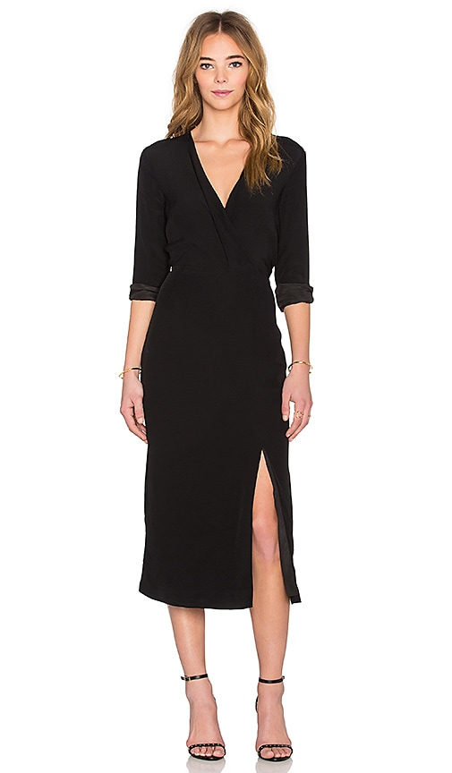 c meo bedroom wall long sleeve dress in black revolve