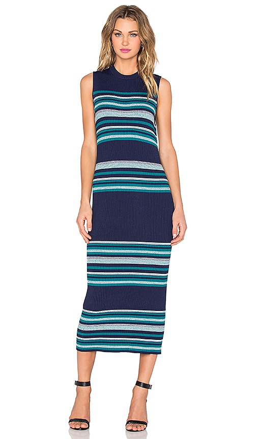 C/MEO Halftime Dress in Navy & Green