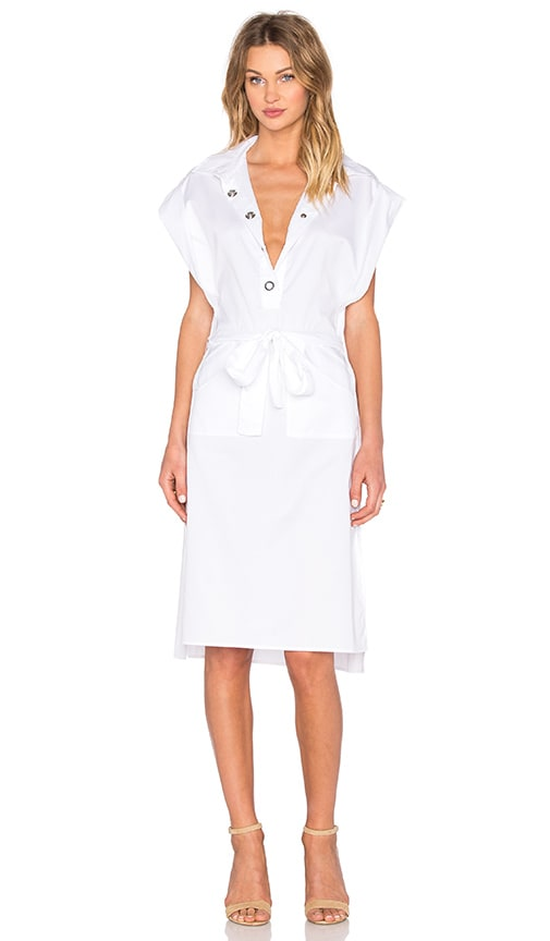 C/MEO Midnight Shirt Dress in White
