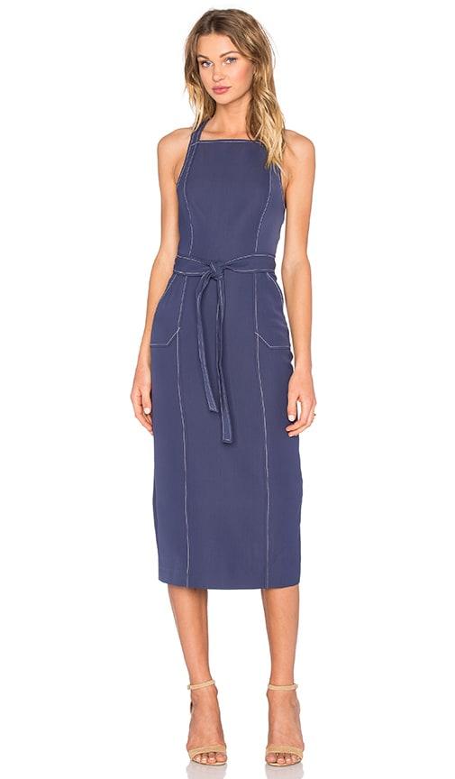 C/MEO Talk That Midi Dress in Blue