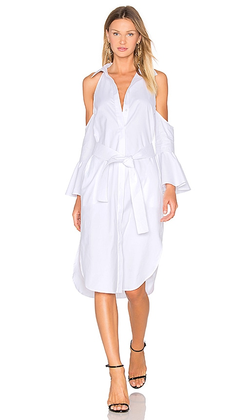 C/MEO Show Me Shirt Dress in White
