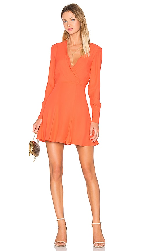 C/MEO Hold Tight Long Sleeve Dress in Orange