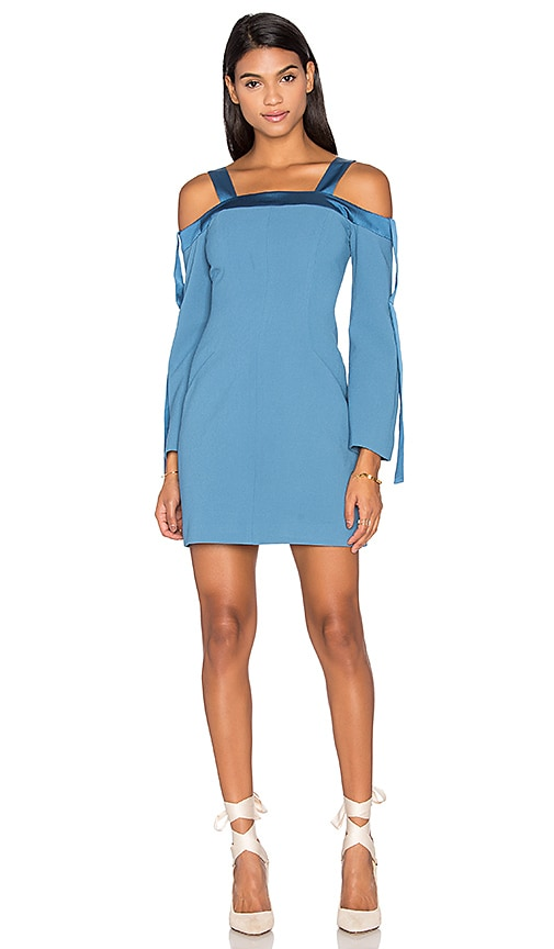 C/MEO Outgrown Long Sleeve Dress in Blue