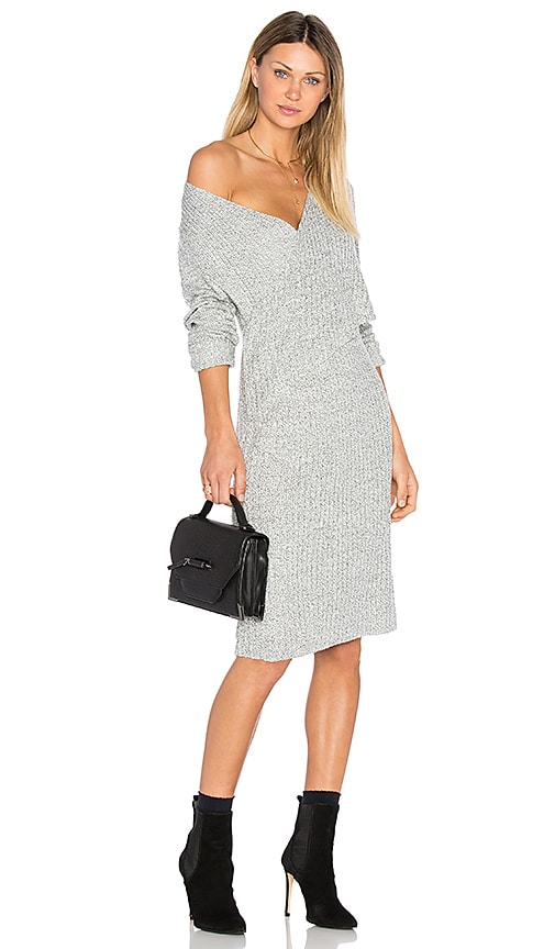 C/MEO Make A Move Knit Dress in Grey