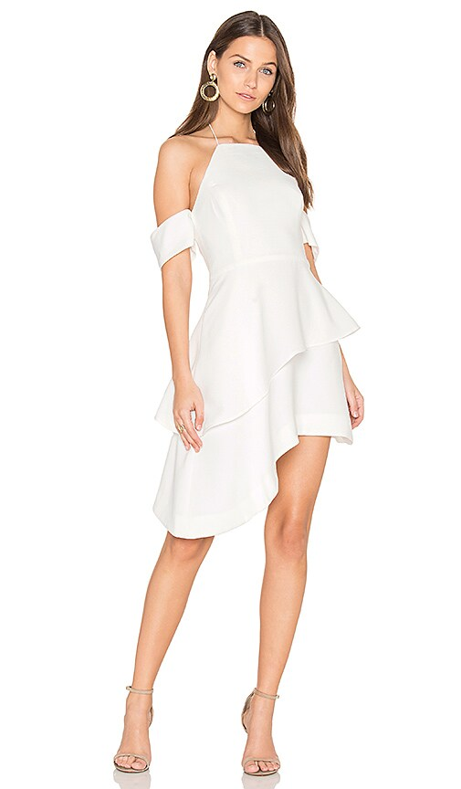 C/MEO Have It All Dress in White