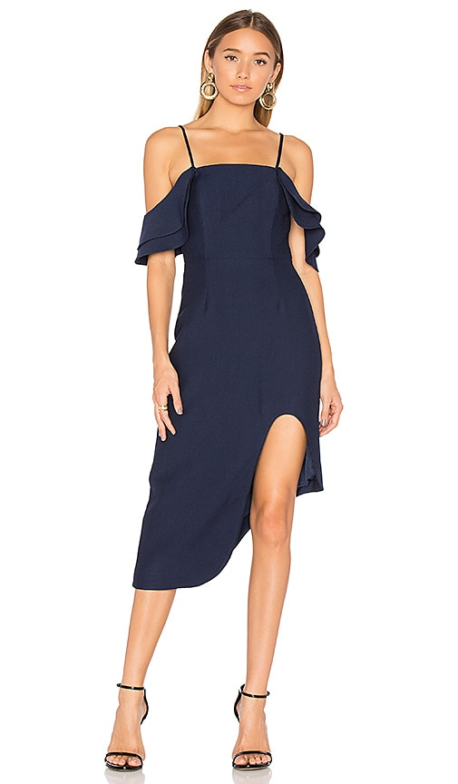 C/MEO First Impression Midi Dress in Navy