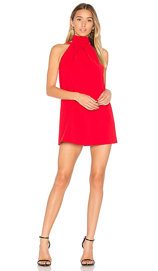 C/MEO Out Of Line Mini Dress in Red