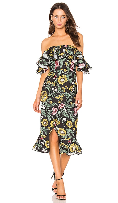 bf824cd5cab7 C/MEO Immerse Midi Dress in Black Floral | REVOLVE