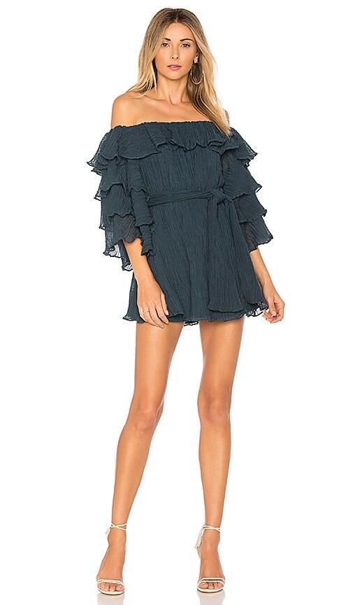 C/MEO Sacrifices Mini Dress in Teal