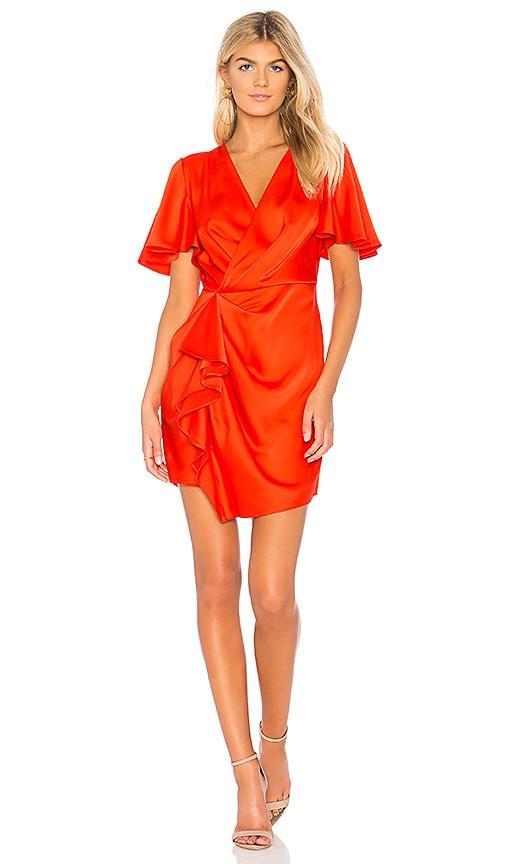 C/MEO No Less Mini Dress in Tangerine