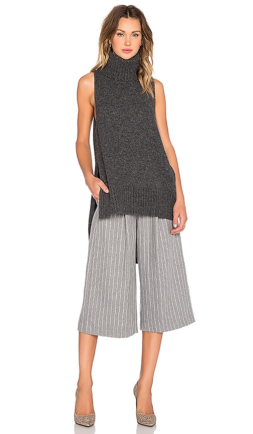 C/MEO Warm Winds Sweater Tank in Charcoal