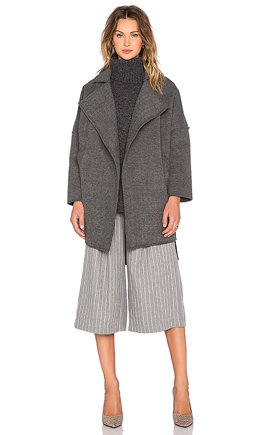 C/MEO Wrapped Up Coat in Charcoal