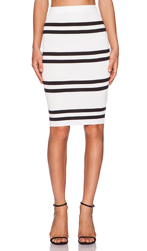 C/MEO Pyraminds Skirt in Ivory & Black