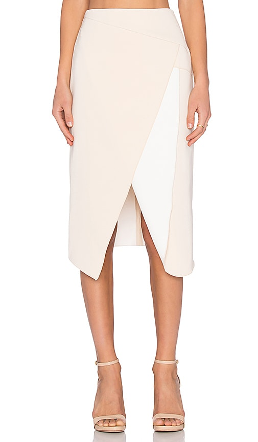 C/MEO The Graduation Skirt in Cream & Ivory