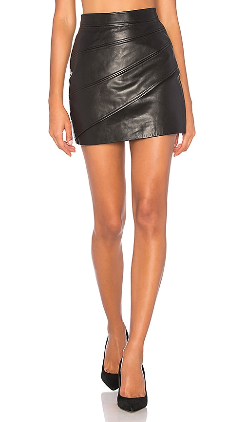 LESSON LEARNT LEATHER SKIRT C/MEO