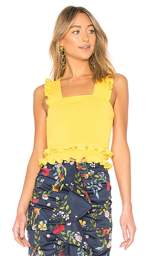 C/MEO Iridescent Top in Yellow