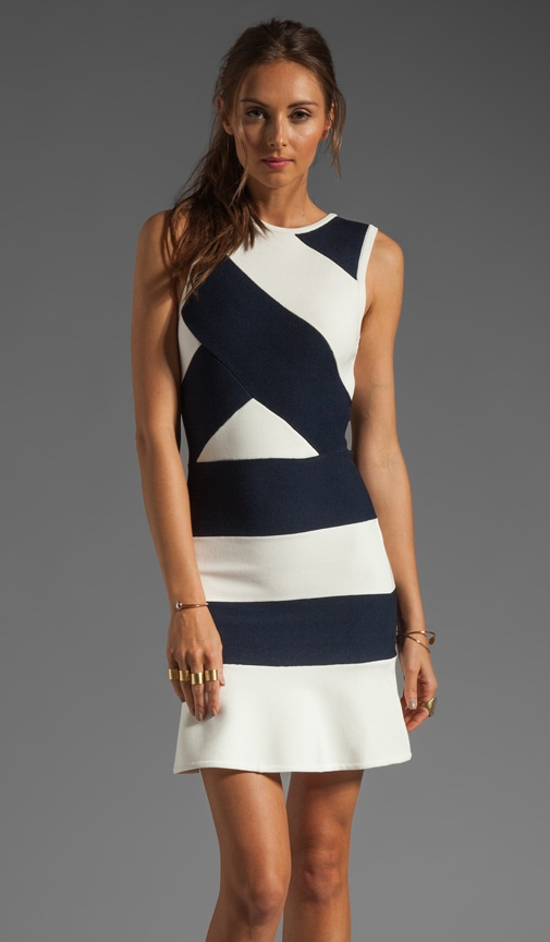 Division Knit Bandage Dress