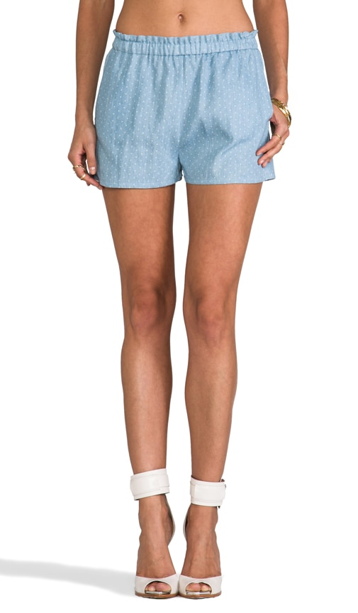 camilla & marc C&M Light Headed Chambray Spot Short