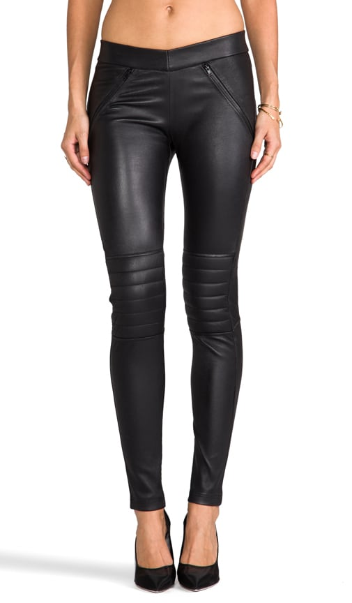 Shape Shifter Leather Moto Legging