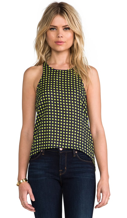 camilla & marc C&M Sweeter Life Check Print Racer Tank