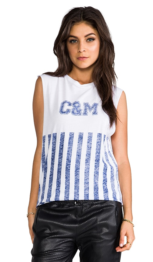 camilla & marc C&M Make Mistakes Stripe Muscle Tank