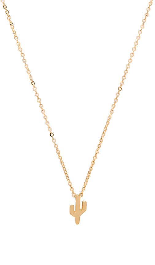 CAM Pappy Pendant Necklace in Metallic Gold