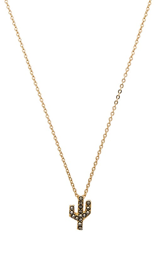 CAM Studded Saguaro Necklace in Metallic Gold
