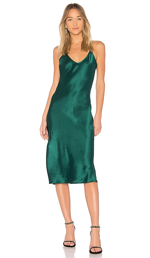CAMI NYC The Raven Dress in Dark Green