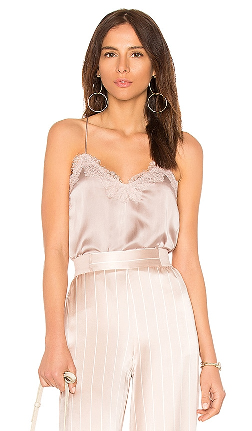 CAMI NYC The Racer Charmeuse Cami in Blush