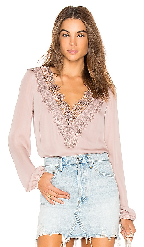 CAMI NYC The Alannah Blouse in Blush