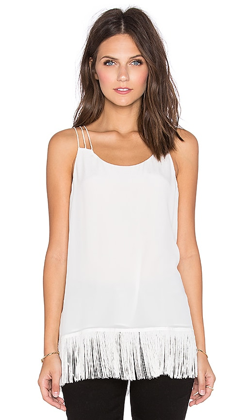 CAMI NYC The Fringe Cami in White